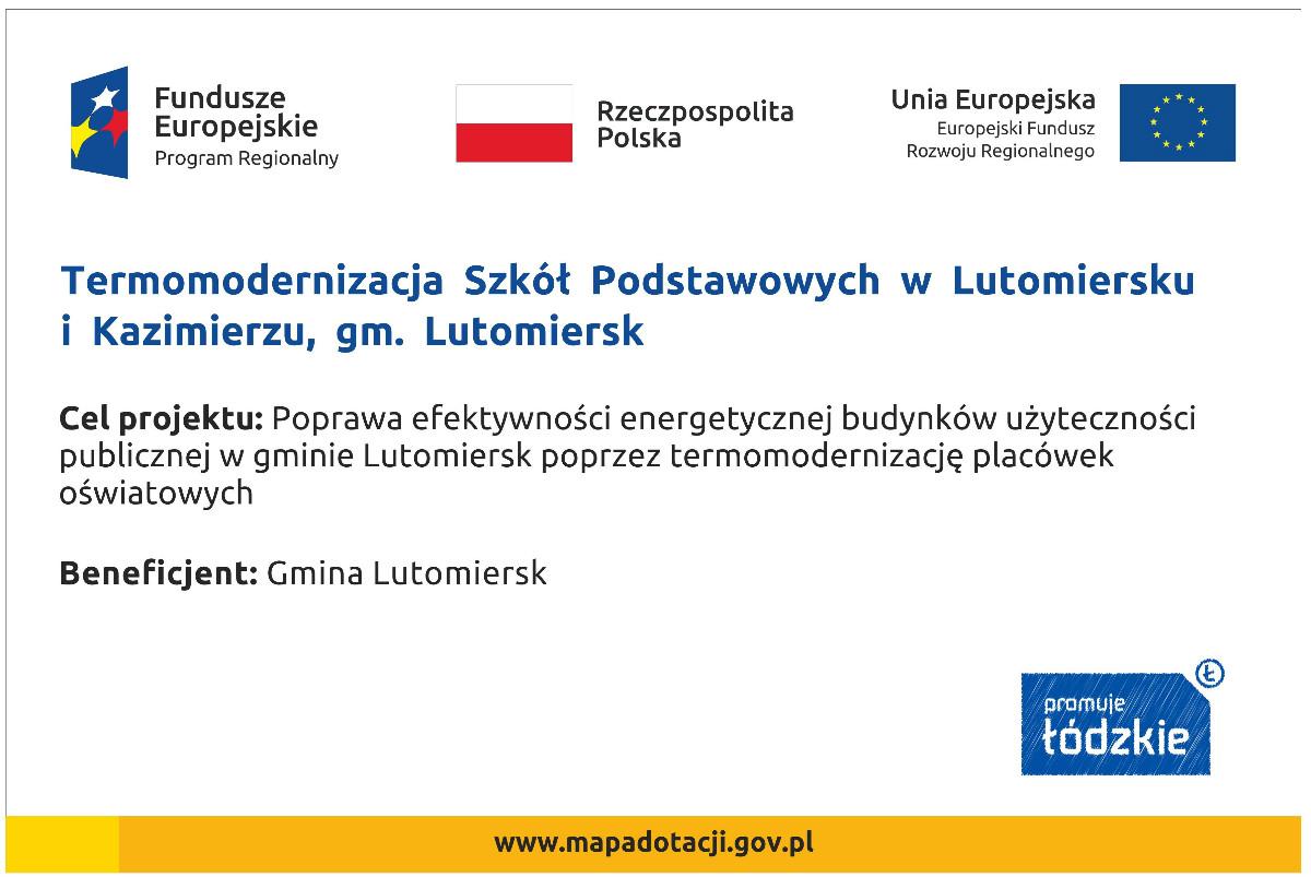 Termomodernizacja Szkół Podstawowych w Lutomiersku i Kazimierzu,  gm. Lutomiersk